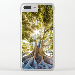 Tree Paradise (Color) Clear iPhone Case