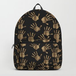 Abstract Golden hands Open Hands Open heart Backpack