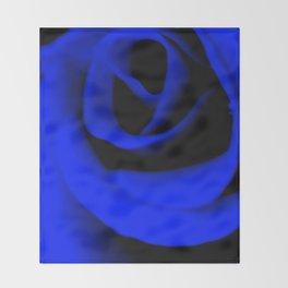 Blue Rose II Throw Blanket