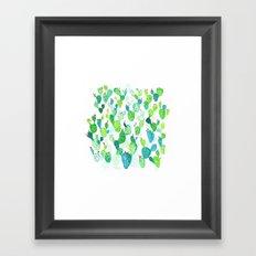 Watercolour Cacti Framed Art Print