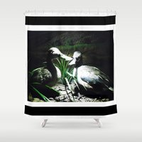 ducks Shower Curtains featuring Ducks by Maria Gabriela Arevalo Reggeti
