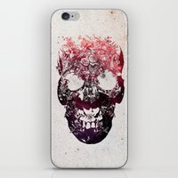 skull iPhone & iPod Skins featuring SKULL by Ali GULEC