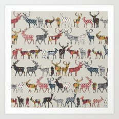 oatmeal spice deer Art Print