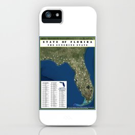 Florida: The Sunshine State with a County Key iPhone Case
