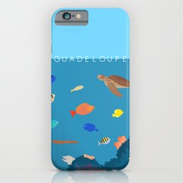Guadeloupe underwater  iPhone Case