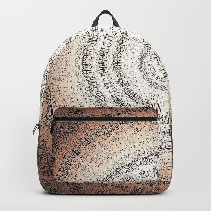 Vintage Ancient Words Mandala Backpack
