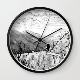 Found (Backpacking Angeles National Forest PCT) - Inktober 2017 Wall Clock