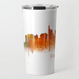 Frankfurt am Main, City Cityscape Skyline watercolor art v2 Travel Mug