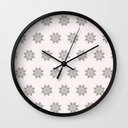 Floral Repeat Pattern Wall Clock