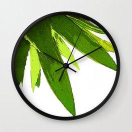 PALM TREE ON TROPICAL ISLAND FOLIAGE Wall Clock