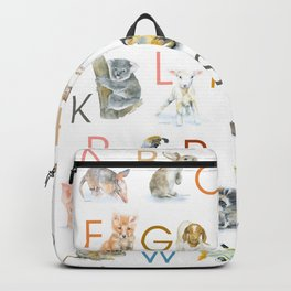 Animal Alphabet ABCs Poster Backpack