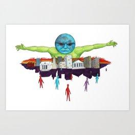 Moon Men Rule the World Art Print