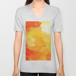 Colorful Abstract - red orange pattern Unisex V-Neck