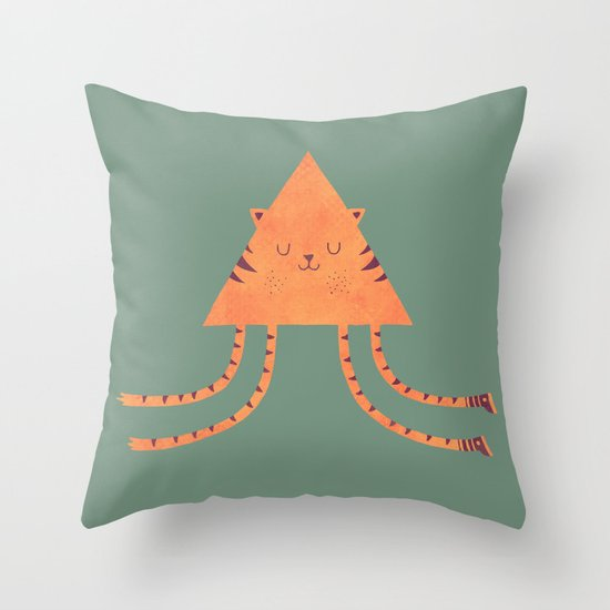 Emily's Kitty Throw Pillow