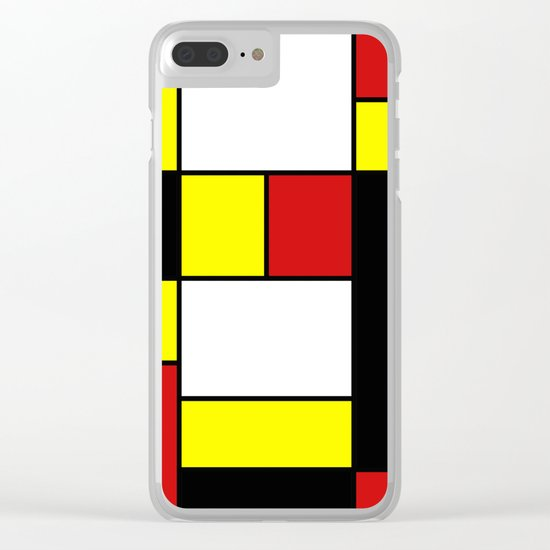 Abstract #378 Mondriaan Clear iPhone Case