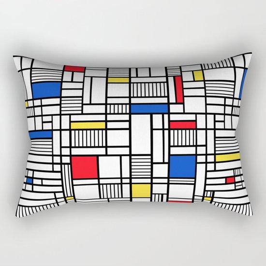 Map Lines Mond Rectangular Pillow