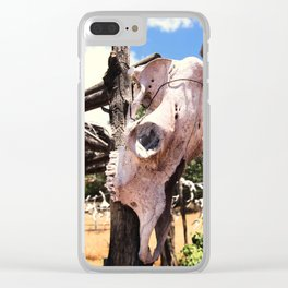 Cow Skull Ranch Clear iPhone Case