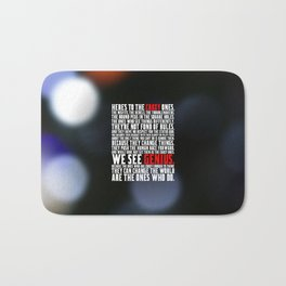 """Here's to the crazy... """"Steve Jobs"""" Life Inspirational Quote Bath Mat"""