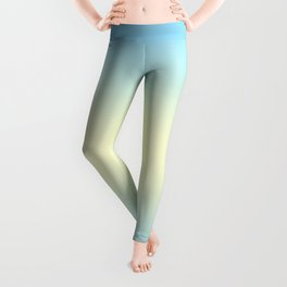 Baby Blue to Cream Yellow Bilinear Gradient Leggings