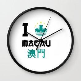 I love Macau Wall Clock