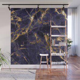 Majesty Purple Marble With 24-Karat Gold Hue Veins Wall Mural