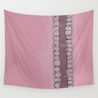 teeth Wall Tapestries featuring Teeth by Conrad