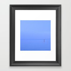 it's quiet quiet.. Framed Art Print