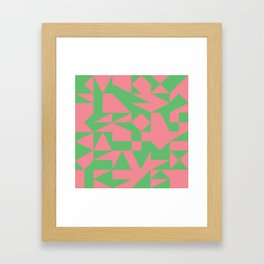 English Square (Pink & Green) Framed Art Print