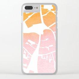 Vilnius map ombre Clear iPhone Case