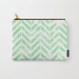 Shabby Green Chevron Carry-All Pouch