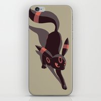 umbreon iPhone & iPod Skins featuring Umbreon stalking by Criminal Crow