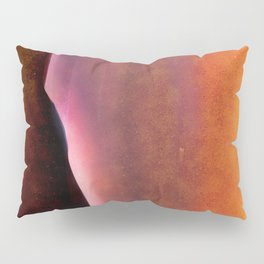 Copper, Pink and Orange Abstract Pillow Sham