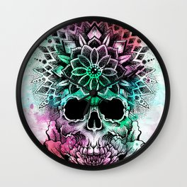 trancendetal skull Wall Clock
