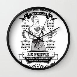 Vintage Boxing Wall Clock