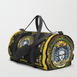 Medusa shield of Charles V Duffle Bag