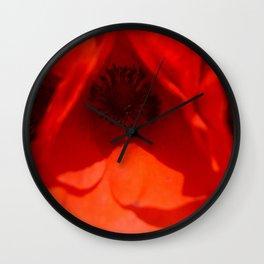 Poppies II Wall Clock