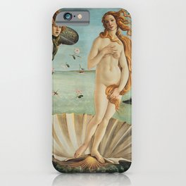 Sandro Botticelli - The birth of Venus (La nascita di Venere) iPhone Case