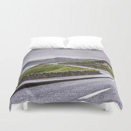 Windy road,Dunluce castle,Ireland,Northern Ireland Duvet Cover