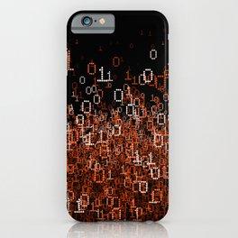 Binary Cloud II iPhone Case