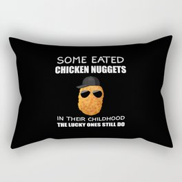 Nuggets Chicken Nuggets Gift  Rectangular Pillow