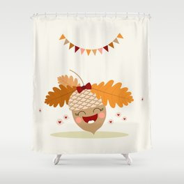 Gland orange Shower Curtain