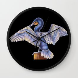 Cormorant Wall Clock