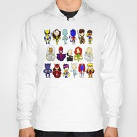 x men Hoodies featuring X MEN GROUP by Space Bat designs