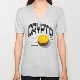CRYPTO COIN Unisex V-Neck