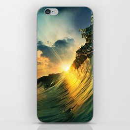 Beach - Waves - Sunset - Clouds - Sundown iPhone Skin