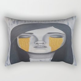 Melancholy Gold Rectangular Pillow