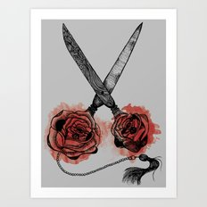 the scissors Art Print