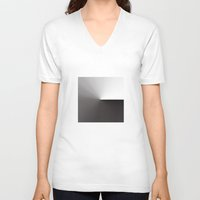 shadow V-neck T-shirts featuring Shadow by foureighteen