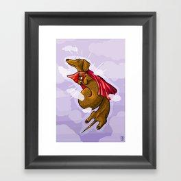 SuperDach Framed Art Print