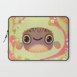 Smiling puffer Laptop Sleeve